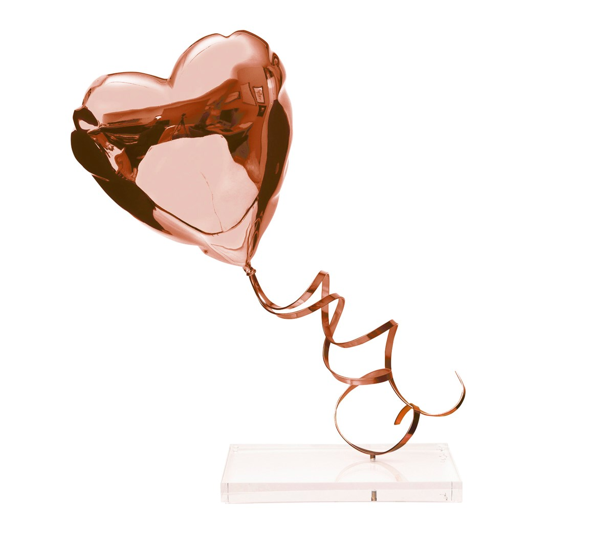 Flying Balloon Heart (Rose Gold)